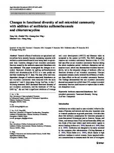 Changes in functional diversity of soil microbial ... - Springer Link