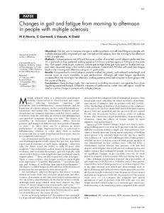 Changes in gait and fatigue from morning to afternoon in ... - NCBI
