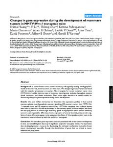 Changes in gene expression during the development of mammary ...