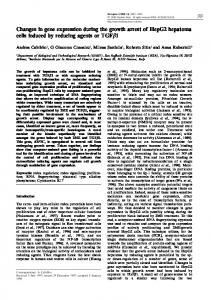 Changes in gene expression during the growth arrest of ... - Nature
