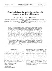 Changes in hermit crab feeding patterns in response ... - Inter Research