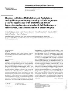 Changes in Histone Methylation and Acetylation ...