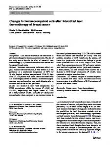 Changes in immunocompetent cells after interstitial ... - BioMedSearch