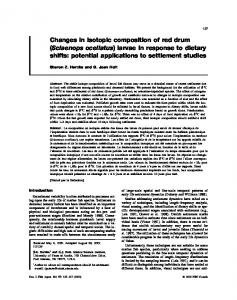 Changes in isotopic composition of red drum (Sciaenops ocellatus