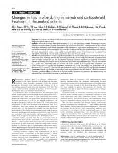 Changes in lipid profile during infliximab and ... - VU Research Portal