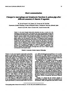 Changes in macrophage and lymphocyte functions in