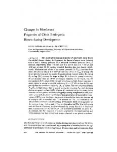 Changes in Membrane Properties of Chick Embryonic Hearts during ...