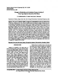 Changes in Metabolites and Antioxidant Enzyme Activity ...   CiteSeerX