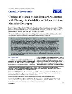 Changes in Muscle Metabolism are Associated
