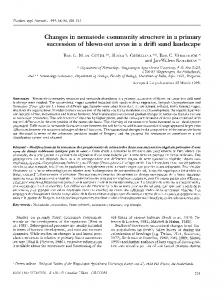 Changes in nematode community structure in a primary succession of ...