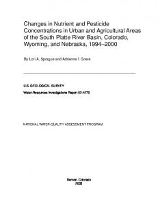 Changes in Nutrient and Pesticide Concentrations in Urban and ...