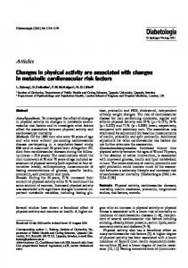 Changes in physical activity are associated with ... - Springer Link