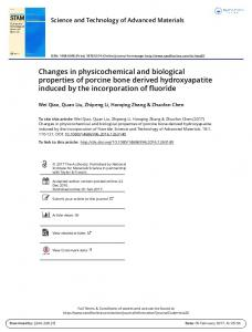 Changes in physicochemical and biological ...