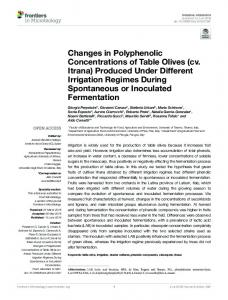 Changes in Polyphenolic Concentrations of Table ...