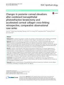 Changes in posterior corneal elevations after combined transepithelial ...