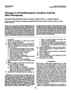 Changes in Proinflammatory Cytokine Activity after ... - CiteSeerX