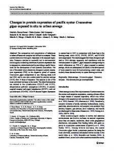 Changes in protein expression of pacific oyster Crassostrea gigas ...