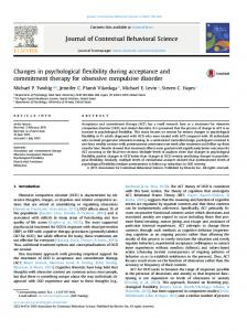 Changes in psychological flexibility during