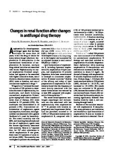 Changes in renal function after changes in antifungal drug therapy