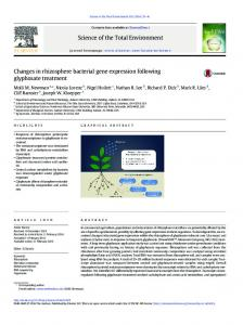 Changes in rhizosphere bacterial gene expression ...
