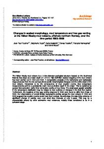 Changes in seabed morphology, mud temperature ... - Archimer - Ifremer