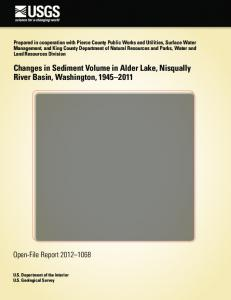 Changes in Sediment Volume in Alder Lake, Nisqually River Basin ...