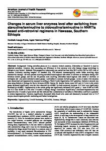 Changes in serum liver enzymes level after switching from stavudine ...
