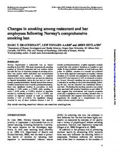 Changes in smoking among restaurant and bar