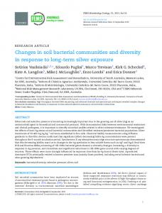 Changes in soil bacterial communities and diversity in response to ...