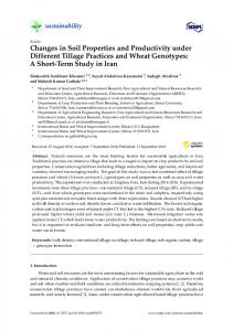 Changes in Soil Properties and Productivity under Different ... - MDPI
