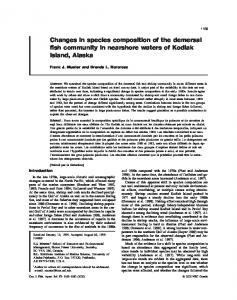 Changes in species composition of the demersal fish community in ...