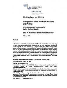 Changes in the Labour Market