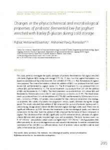 Changes in the physicochemical and microbiological properties of