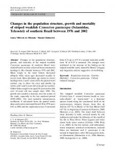 Changes in the population structure, growth and mortality of striped ...