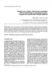 Changes in the structure of dung insect communities after ivermectin ...