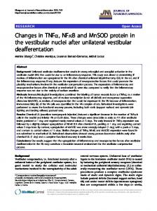 Changes in TNFα, NFκB and MnSOD protein in the ... - BioMedSearch