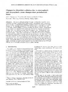Changes in ultraviolet radiation due to stratospheric and tropospheric
