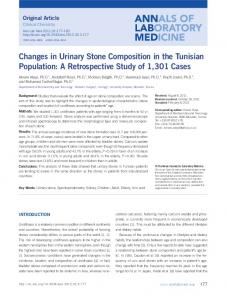 Changes in Urinary Stone Composition in the