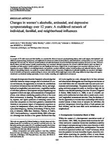 Changes in women's alcoholic, antisocial, and depressive ...