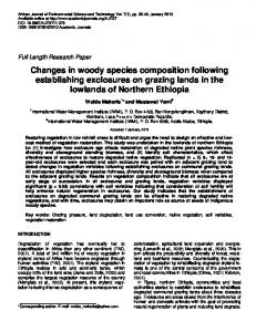 Changes in woody species composition following establishing ...