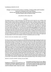 Changes on Amino Acids Content in Soybean, Garbanzo Bean and ...