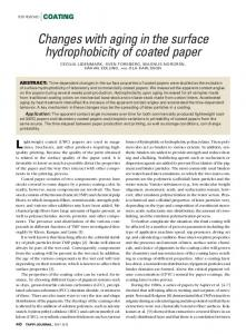 Changes with aging in the surface hydrophobicity of ...