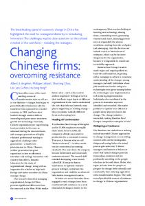 Changing Chinese firms - Insead