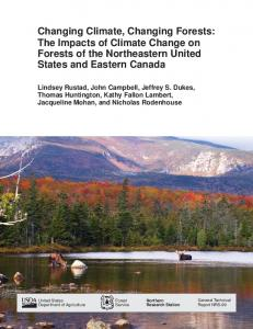 Changing climate, changing forests: The impacts of climate change on ...