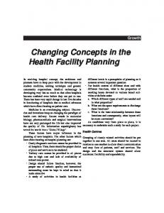 Changing Concepts in the Health Facility Planning