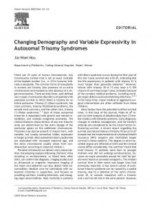 Changing Demography and Variable Expressivity in