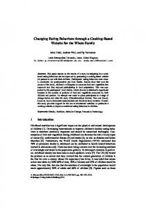 Changing Eating Behaviors through a Cooking-Based Website for the ...
