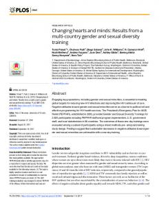 Changing hearts and minds: Results from a multi-country ... - PLOS