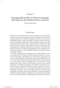 Changing Hierarchies in Chinese Language