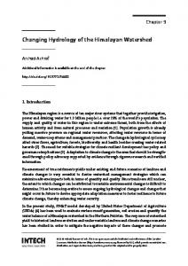 Changing Hydrology of the Himalayan Watershed - IntechOpen